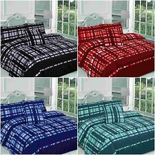 Checked Finley Duvet Cover Bedding Set Bed in a Bag Single Double King Superking
