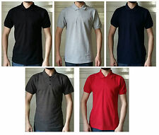 New Mens Polo T-shirts S/M/L/XL/XXL Red, Black, Grey, Charcoal and Navy Blue