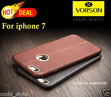 *Vorson* DOUBLE STITCH LEATHER SHELL* Back Cover Case For Apple iPhone 7 (4.7)