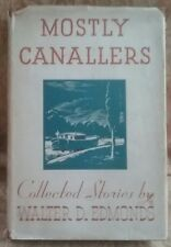 Vintage Book Mostly Canallers: Collected Stories  Walter D. Edmonds HC DJ 1st