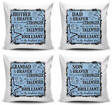 You Are Braver Than You Think, Stronger Than You Look Cushion Covers w/ Inner -M