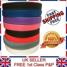 LTG Strong 25mm x 25 Meter Webbing Rolls Polypropylene Straps Black Red Lashing