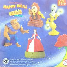 McDonalds Happy Meal Toy 1998 BEAUTY & THE BEAST Characters - VARIOUS