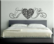 ADESIVI MURALI GOOD NIGHT DECORAZIONI PARETE CAMERA LETTO WALL STICKER WS0865