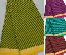 Women's Ethnic Wear Kota Doria Cotton Leheriya Saree With Running Blouse