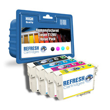 REMANUFACTURED (NON GENUINE) T1291/2/3/4 INK CARTRIDGES FOR EPSON PRINTERS T1295