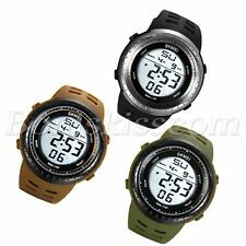 Students Outdoor Sports Multi-function Big Dial Digital Silicone Wrist Watch New
