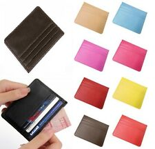 New Genuine Real Leather Slim Thin Credit Card Holder Mini Wallet ID Case*CrdW
