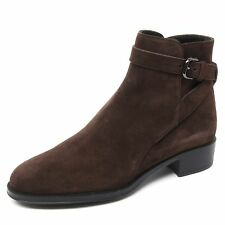B4837 tronchetto basso donna TOD'S scarpa marrone boot shoe woman