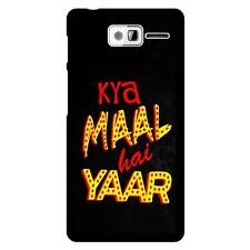 "Bhishoom ""Kya Maal Hai Yaar"" Moto D3 Hard Back Moblie Case Cover"