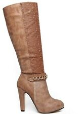 WOMENS QUILTED SUEDE BLACK KHAKI PLATFORM HIGH HEEL STILETTO ANKLE BOOTS SHOES