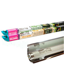Arcadia Euro T8 UV UVB Fluorescent Tubes 5% 10% Forest Desert optional Reflector