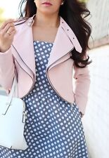 ZARA pastel pink cropped jacket blazer with zips Sold out new Bloggers Medium M