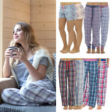 Ladies Soft Lounge Pants Pyjama Bottoms Night Trousers Pjs Cuffed Leggings