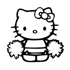 "5"" HELLO KITTY CHEERLEADER Vinyl Decal Sticker Car Window Laptop Cheer School"