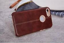 "Vorson® For ""Apple iPhone 7"" Double Stitch Leather Shell Back Case Cover"