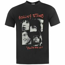 Official Rolling Stones Exile on Main Street T-Shirt Mens Black Tee Shirt Top