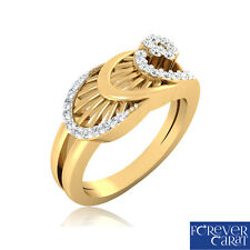 0.27Ct Certified White Natural Round Diamond Ring Hallmarked 14kt Gold Ring 3389