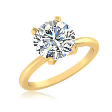 1.00 Ct Solitaire Ring Diamond Ring 14K Certified Real Gold Ring Diamond Ring