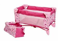 Baby Doll Bed Playpen Furniture Playset for Dolls