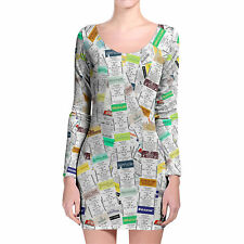 Fastpass Longsleeve Bodycon Dress XS-3XL All-Over-Print