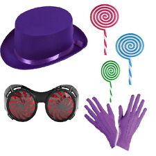 Book Day Chocolate Boss Hat Glasses Gloves Candy Sweet Prop Fancy Dress Adults