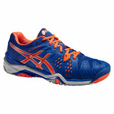 ASICS GEL RESOLUTION 6 BLUE FLASH ARANCIONE ARGENTO TENNIS SCARPE GRATIS UK 48