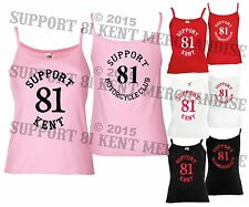 SUPPORT 81 KENT HELLS ANGELS ENGLAND Ladies Womens Strappy Camisole Vest Top