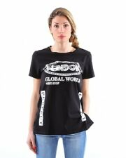 "T-shirt maniche corte con stampa ""London"" spacchi laterali - donna"
