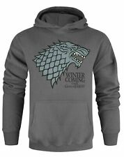 Official Game Of Thrones Stark Winter Is Coming Charcoal Unisex Hoodie
