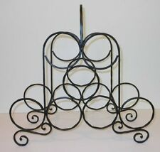 Longaberger Hammered Wine Rack Black Wrought Iron