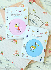 Happy Smile Pocket Mirror cute cartoon handy travel cosmetic tool kawaii gift
