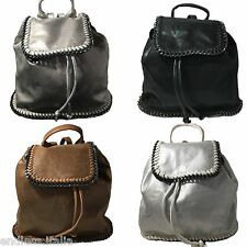 Zaino zainetto eco pelle catene borsa donna stile Falabella Stella McCartney
