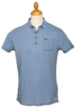 Polo homme NO EXCESS manche courte bleu fin de collection