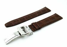 Brown Genuine Leather Strap/Band for IWC Watch Buckle/Clasp 20mm 21mm 22mm NEW