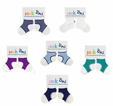 Baby Boys 3 PACK Sock Ons Sock Keepers Size 0-6 Months - Choose Your Colours