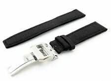 Black Genuine Canvas Strap/Band for IWC Watch Buckle/Clasp 20mm 21mm 22mm