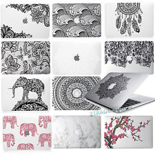 """Rubberized clear Mandala Lace Hard Case For Macbook Air 11"""" Pro 13""""15 Touch Bar"""