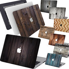 """Simple Old Wood Matt Rubberized Hard Case KB For Macbook Air Pro 13""""15 Touch Bar"""