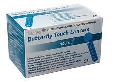 Genteel Butterfly Touch Lancets (Box of 100)