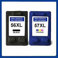 2 Premium Remanufactured Ink Cartridges Replace For HP 56XL 57XL