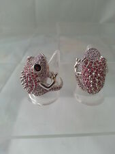 "Ring ""Frog"" Brass silver rhodium-plated Crystal Bestseller Beautiful"