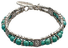 Silver Plated Handmade Fashion Bracelet for Women w/ Imitation quality Turquoise