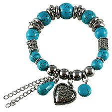 Silver Plated Fashion Bracelet for Women with Imitation Quality Turquoise