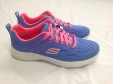 Skechers Burst Adrealine Trainers, Blue / Pink, UK 3