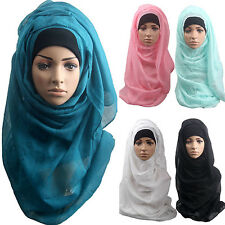 WOMEN'S COTTON MUSLIM ISLAMIC RAMADAN HIJAB LONG SCARF SHAWL WRAP HEADWEAR NOBLE