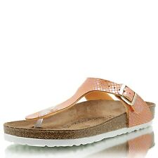 BIRKENSTOCK Gizeh BF Shiny Snake orange