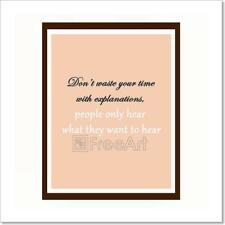 Inspirational And Motivational Quote. Art Print Home Decor Wall Art Poster - E