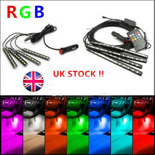 4x 9/12 LED Car SUV Interior RGB Atmosphere Decorative Light Neon Lamp Strip 12V