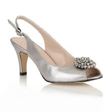 Lotus 'Fascination' open toe shoes Pewter 50279